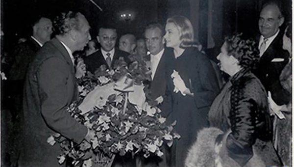 1956. Visita Príncipes Mónaco en su viaje de novios
